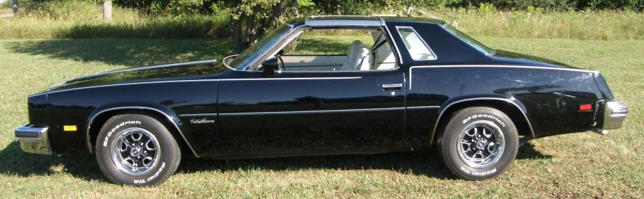 What does it say about a man who drives a mint condition '76 Cutlass Supreme T-top, equipped with a 350Rocket?